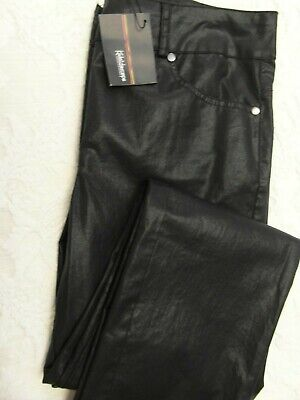 NWT Ladies Black Faux Leather Look Jeans By Kaleidoscope Size 10 • 4.20£