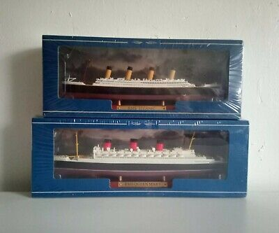 Titanic Model Ship & RMS Queen Mary Atlas Editions New Boxed & Sealed Set • 29.99£