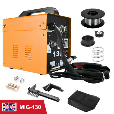 Gasless Mig Welder 130 No Gas Less Flux Core Automatic Feed Kit 230V Machine New • 89.99£