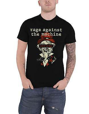 Rage Against The Machine T Shirt Land Of The Free Logo New Official Mens Black • 13.95£
