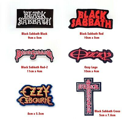 £1.79 • Buy Black Sabbath Music Rock Band Log Badge Iron Or Sew On Embroidered Patch