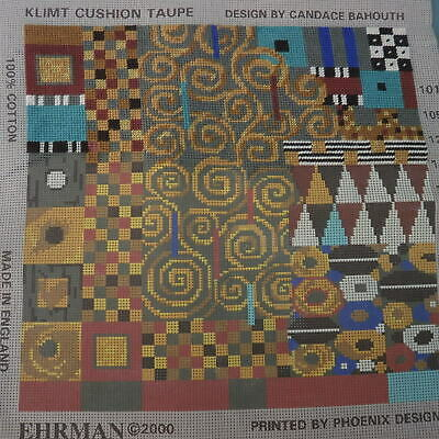 Unfinished Ehrman Tapestry Klimt Cushion By Candace Bahouth • 10.50£