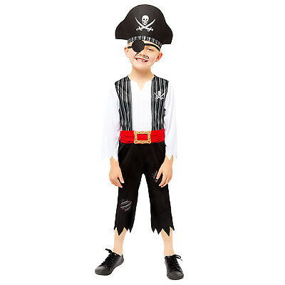 Childs Deckhand Shipmate Fancy Dress Pirate Costume Caribbean Buccaneer Book • 11.99£