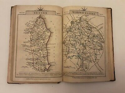 1792 John Cary ~ Book Tissue Maps England/Wales And Old Horace Hart Shakespeare • 20£