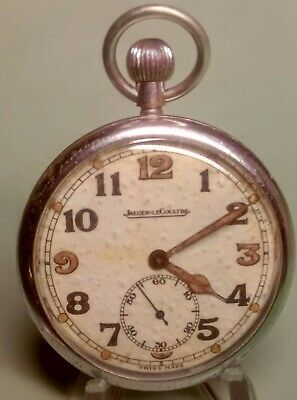WW2 BRITISH ARMY Jeager-LeCoultre 467/2 Pocket Watch Circa 1940s FULLY Serviced • 255£