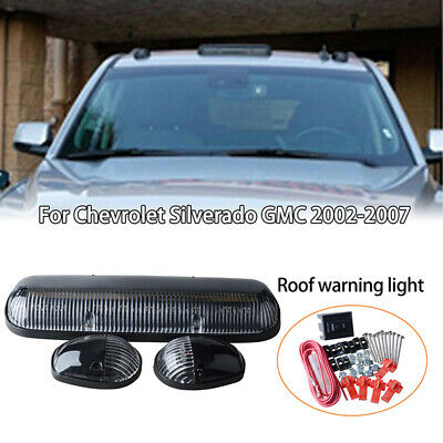 $40.99 • Buy 3PC Clear Cab Roof Running White LED Lights For Chevy Silverado/GMC Sierra 02-07