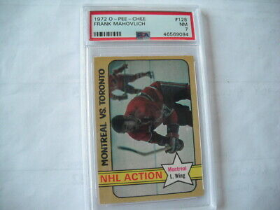 $22.99 • Buy 1972 O-pee-chee Frank Mahovlich Montreal Canadiens  #128 Psa Graded Nm 7