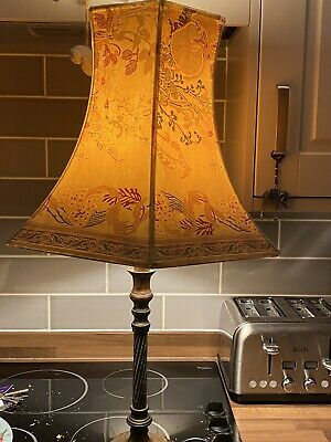LAURA ASHLEY  Vintage Brass/wood Large Table Lamp & Shade • 15£