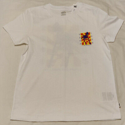 VANS Womens Photo Op Short Sleeve White T-Shirt Size Small New • 10£