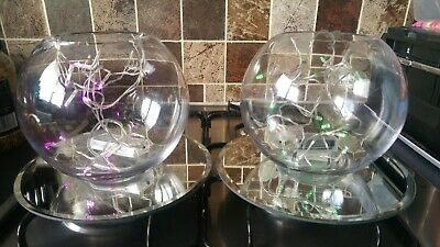 Wedding Centre Pieces 31 Fishbowls With Twinkly Lights • 100£