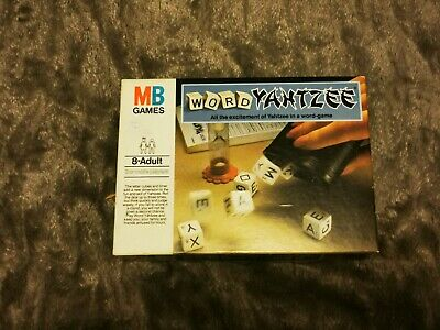 ** MB Games - WORD YAHTZEE - 1981 - Good Condition **  FREE POSTAGE  • 12.50£