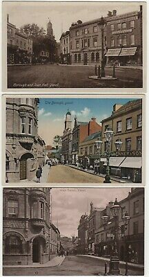 Yeovil Somerset 3 Printed Postcard Views Of High Street Borough Town Hall C.1912 • 7.99£