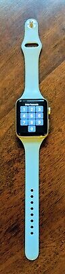 $ CDN163.64 • Buy Apple Watch Series 2 Aluminum 42mm Case A1758 Gold Used Light Blue Band