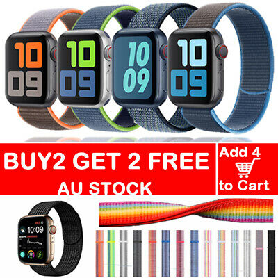 AU10.79 • Buy For Apple Watch Band Series SE 6/5/4/3/2 Nylon Woven Loop IWatch Strap 38 44 Mm