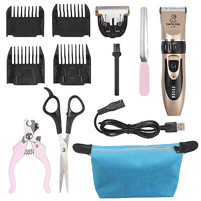 7'' Pet Hair Scissors Tool Dog Grooming Cutting Thinning Curved Shears Comb Kit • 11.99£