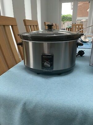 Morphy Richards 48718 Slow Cooker 6.5L - Stainless Steel. Pristine • 4£