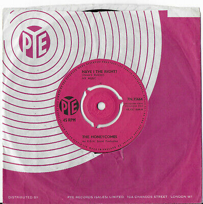 £2.95 • Buy THE HONEYCOMBS 'Have I The Right' Contract Press Joe Meek RGM Beat Nice Copy