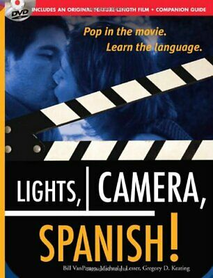 £31.99 • Buy Lights, Camera, Spanish Book  DVD Learn Conversational Spanish By Watching A ...