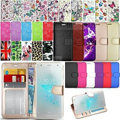 AU8.84 • Buy For Sony Xperia 5 L4 L3 L2 XA1 Wallets Case Leather HeavyDuty Book Cover Stand
