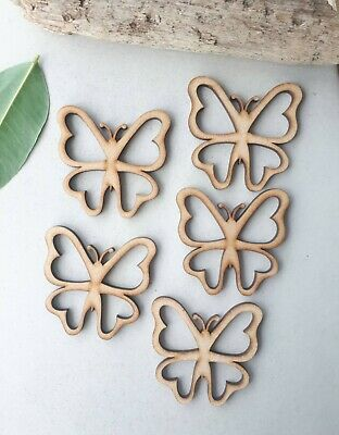 Butterfly Wooden Shapes Scrapbook Embellishments Card Making  • 2.70£