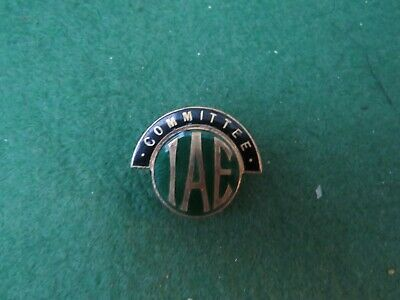 Vintage Iae Committee Button Hole Badge By Thomas Fattorini • 12.99£