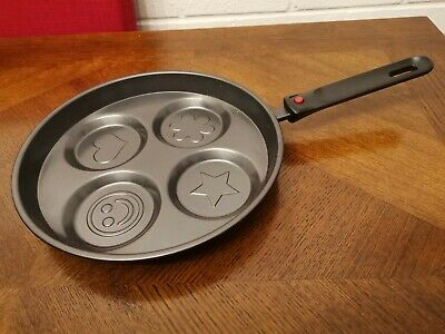 Non Stick 10cm Pancake Pan Heart, Smiley Face, Star, Flower • 4£
