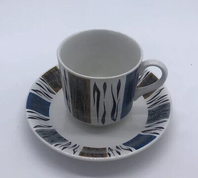 Barratts Delphatic White Tableware Cup & Saucer Pattern Vintage Retro • 10£