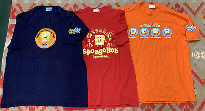 $ CDN32.59 • Buy Lot Of 3 2001 Vintage Spongebob Squarepants Nickelodeon Graphic T Shirts