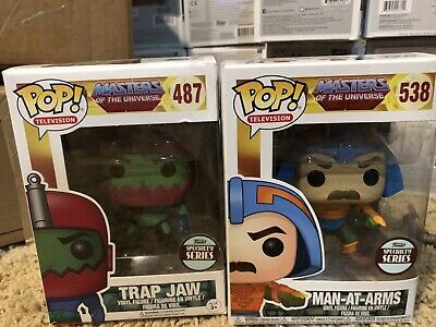 $15 • Buy Funko Pop Masters Of The Universe Man At Arms And Trap Jaw Filmation 487 538