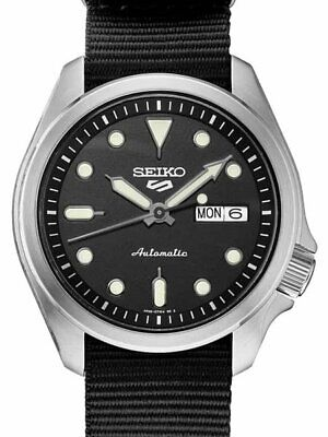 $ CDN246.25 • Buy New SEIKO 5 SRPE67K1 Automatic Nylon Band 40mm Black Dial 24 Jewels