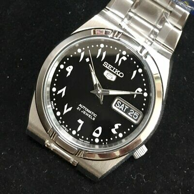 $ CDN174.70 • Buy SEIKO 5 SNK063J5 21 Jewels Automatic Japan Made Arabic Number Limited 34mm Dial