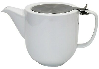 £15.99 • Buy Whittard 1 Litre Teapot 5 Cup Teapot White Ceramic Tea Pot With Infuser Pao