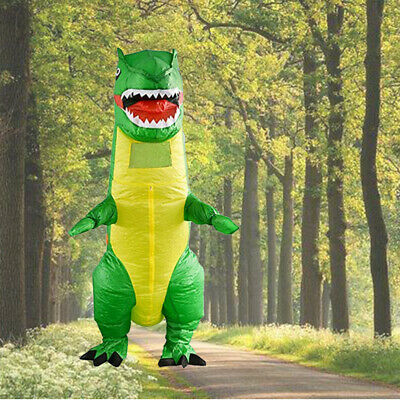 Inflatable Adult Dinosaur T-Rex Halloween Party Fancy Dress Party Costume Outfit • 23.99£