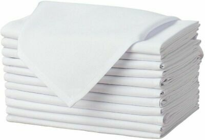 100X Cotton Napkins Table Linen Dinner Cloth For Hotel Wedding 250 Thread Count • 7.89£