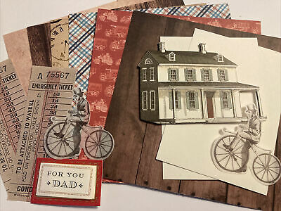 Craftroom Clearout/ Mini Card Kit Bundle/ Junk Journal Vintage House • 0.99£