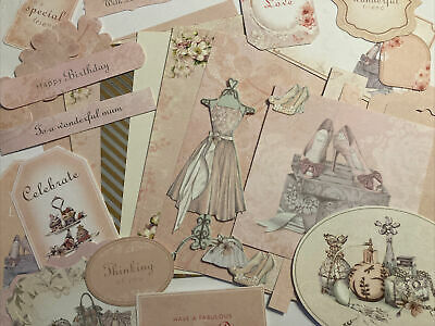 Craftroom Clearout/Mini Card Kit Bundle/Junk Journal Vintage Lady-Peach Colours • 1.24£