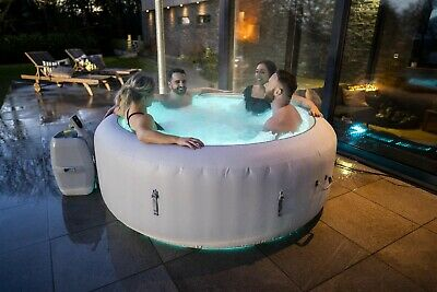 Lay -Z-Spa Paris 4-6 Person Luxury Inflatable Hot Tub With LED Lights Airjets • 799.99£