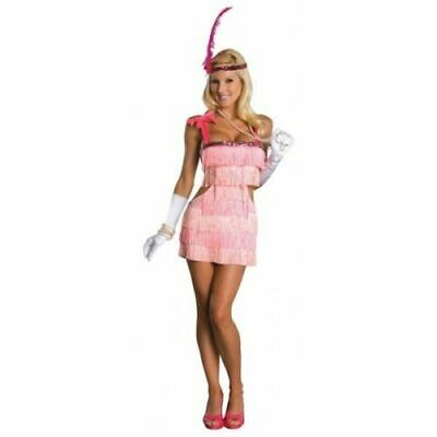 Pink Flapper 1920s Charleston Chicago Gatsby Fancy Dress Costume Outfit  UK 4-6 • 9.99£