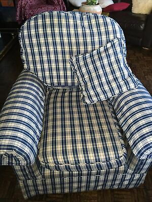 Marks And Spencer Blue & White Single  Armchair  • 30£