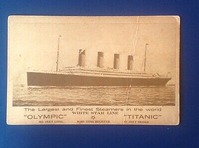 White Star Line Postcard  Olympic And Titanic • 315£