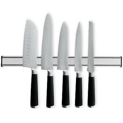 19  Magnetic Knife Holder Wall Mounted Display Rack Strong Kitchen Utensil Strip • 9.97£