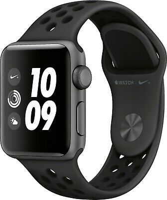 $ CDN404.04 • Buy Apple Watch Nike+ Series 3 Smartwatch (GPS) Black Nike Sport Band