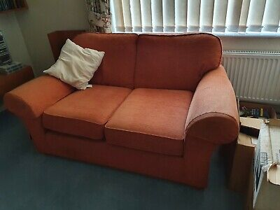 3 Piece Suite Sofa Armchair Used Furniture 'terracotta Colour ' Marks & Spencer • 51£