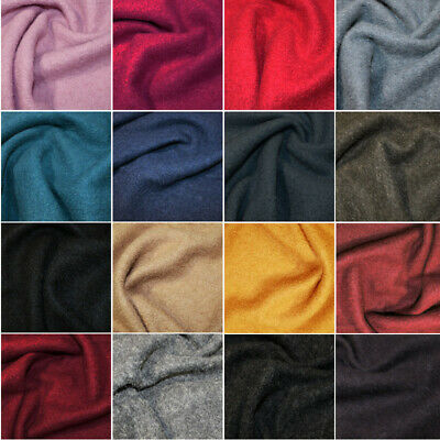 £27.50 • Buy 100% Boiled Wool Fabric Plain Coloured 140cm Wide
