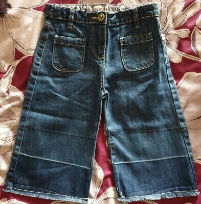M&Co Kite & Cosmic Girls Denim Wide Leg Cropped Jeans/Cullottes Age 6-7 Years  • 2.30£