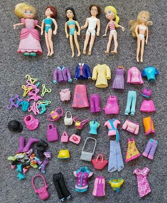 Polly Pocket Bundle, Dolls, Clothes, Accessories • 9£