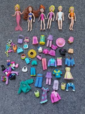 Polly Pocket Bundle, Dolls, Clothes, Accessories • 9.50£