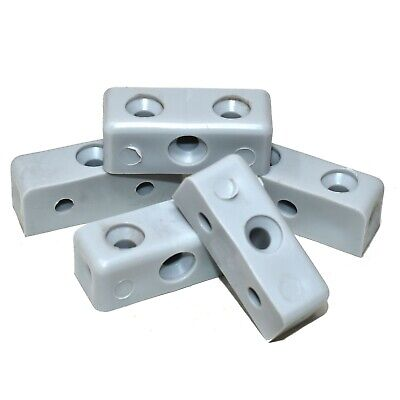 Grey Modesty Block Furniture Connector Blocks Fixit Cabinets Cupboards • 3.39£