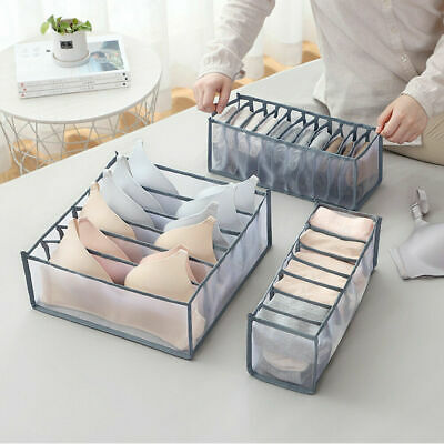 Underwear Socks Tie Storage Box Compartment Bra Organizer Drawer Closet Divider • 5.99£