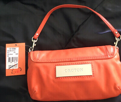AU22.50 • Buy Ladies Orange Oroton Leather Clutch New With Tags